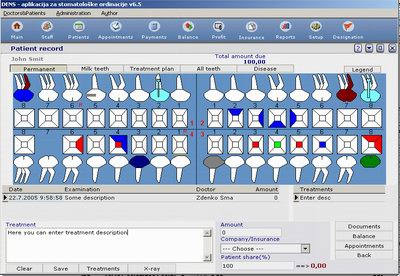 Click to view Practice management software 6.0 screenshot